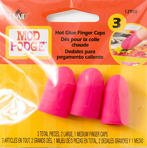 Mod Podge Hot Glue Gun Finger Caps, 12958 (3-Piece) - Glue Gun Pad