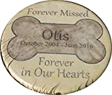 Personalized Pet Memorial Step Stone 11''Diameter'' Forever Missed Forever in Our Hearts