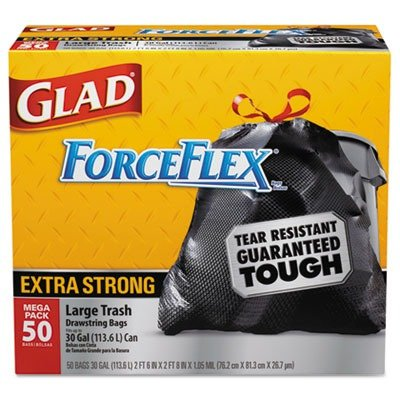 tilex-78539bx-drawstring-outdoor-trash-bags-forceflex-30-x-32-black-50-box