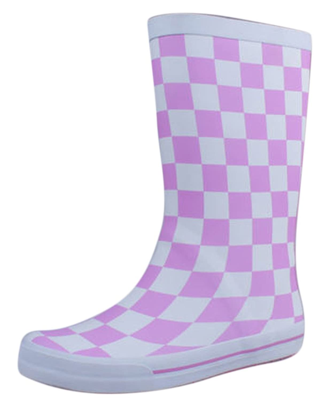 Ace Women's Girls Cute Waterproof Pull-on Work Fashion Rain Boot