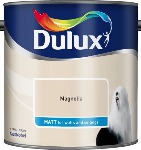 Dulux 500006 DU Matt Paint, 2.5 L - Magnolia