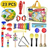 Pachock Toddler Musical Instruments, 23pcs Percussion Toy Rhythm Band Set Toddlers Toys Xylophone...