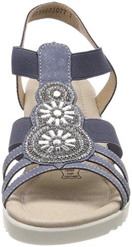 Donna Cinturino Caviglia Con Sandali blau adria Alla Remonte D3461 Blu a7YxFF