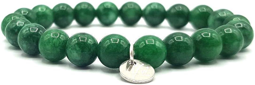 KARDINAL WEIST Jade Pulsera, Cuentas de Piedras Preciosas, Joyas para Hombres y Mujeres, Chakra - Felicidad - Salud - Yin Yang