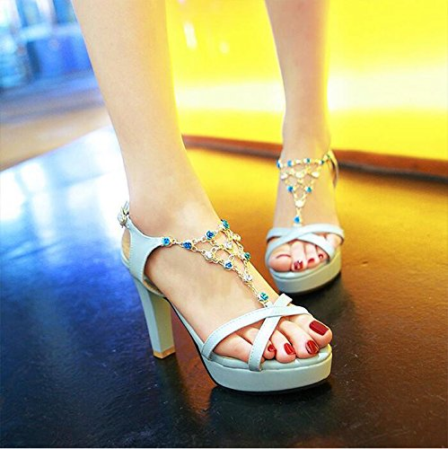 AGECC Sandals  Female High Heels  Women'S Toes blue