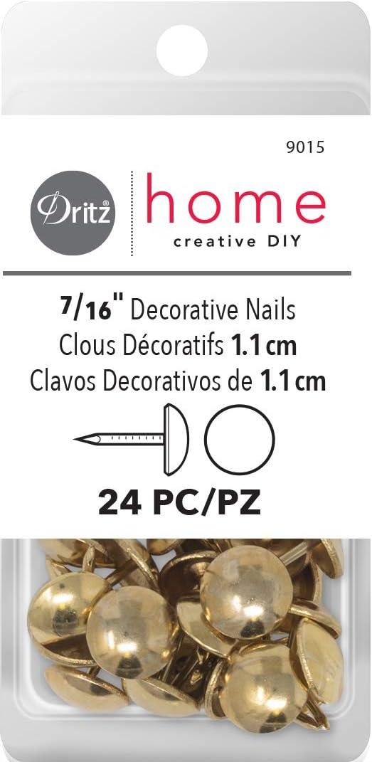 Dritz Home Daisy Clavos Decorativos lat/ón Envejecido 24-Piece