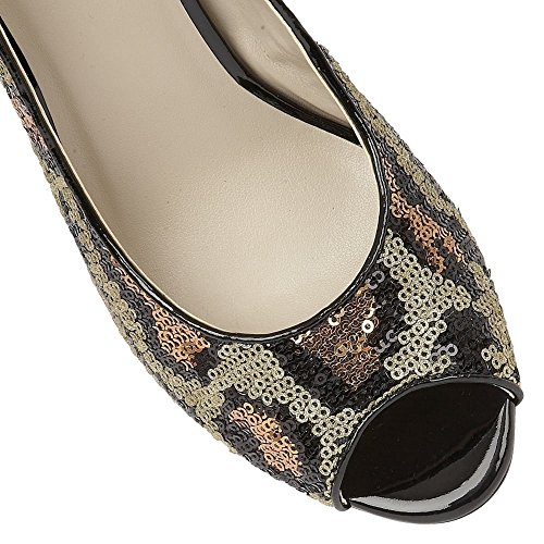 peep paillettes palladia scarpe toe Lotus di ypPqFWv