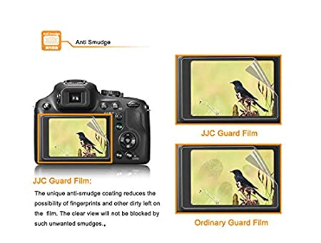 2 Pcs Scratch Resistance Anti-Smudge Coating JJC LCP-SX720HS LCD Guard Screen Protector for Canon PowerShot SX720 HS SX710 HS SX610 HS SX620 HS Canon SX720 HS LCD Screen Protector