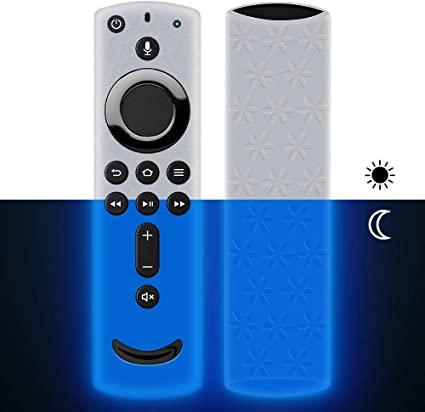 Lightweight Anti-Slip ShockProof Silicone Remote case for Fire TV Cube//Fire TV 3rd Gen Remote Cover for Fire TV Stick 4K Compatible with All-New 2nd Gen Alexa Voice Remote Control