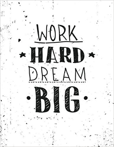 work hard dream big 100 pages ruled notebook journal diary I Dream of Jeannie TV Series work hard dream big 100 pages ruled notebook journal diary large 8 5 x 11 journal notebook amazon co uk star power publishing 9781539784159