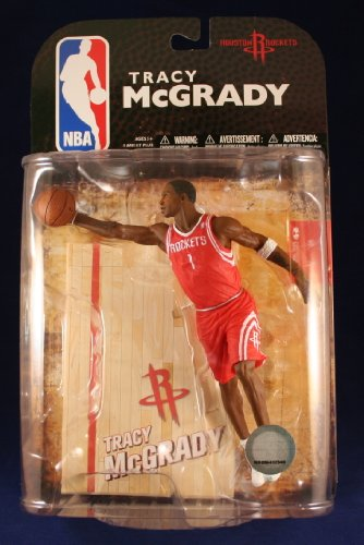 TRACY MCGRADY / HOUSTON ROCKETS * RED JERSEY VARIANT * McFarlane 6 Inch NBA Series 16 Sports Picks Action (Tracy Rockets)