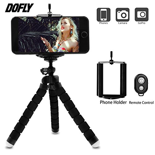 Remote Camera Control Units - DOFLY Mini Cell Phone Camera Tripod, Octopus Camera Holder and Phone Tripod for iphone6/iPhone7 Plus/Universal Smartphone/Camera Arbitrary installed With Remote Control(Black)