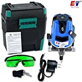 Kaitian Green Laser Level 3 Beam 1 Point Rotary Laser Level for Interior and Exterior