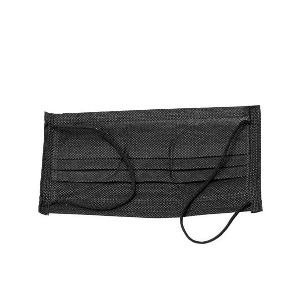 50 Unids Mascarilla Boca Unisex 3 Capas Anti-Polvo Desechable Salón Médico Quirúrgico Earloop Máscara Cubierta Protectora(Bolsa de 50 piezasNegro) 5