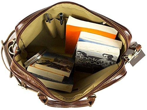 Slimline trabajo bolsa oficina, portátiles, iPad de piel color marrón bolsa de deporte