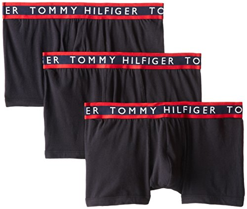 Tommy Hilfiger Men's 3-Pack Cotton Stretch Trunk, Black, Medium/32-34