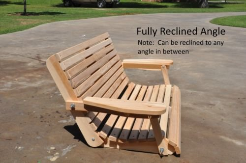 Ecommersify Inc Portable Cup Holder ROLLED seating Amish Heavy Duty 800 Lb 5ft. Porch Swing – Made in USA