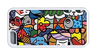 Hipster coolest iPhone 5C case abstract colorful art TPU White for Apple iPhone 5C