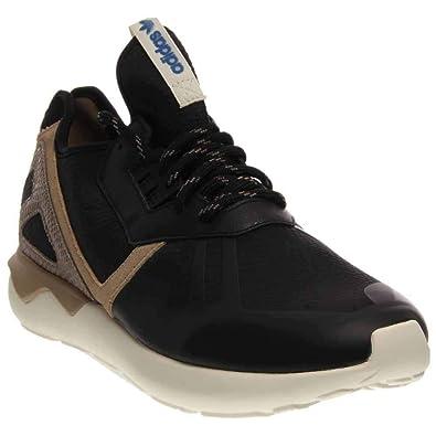 39123b980726 adidas Mens Tubular Runner Black Brown 8.5 Running Athletic B35641