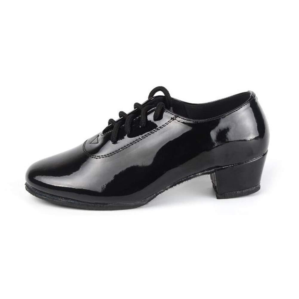 10 UK Child=Label 29 CN =19cm Boy Low Heel Patent Leather Latin Dancing Shoes Modern Ballroom Tango Salsa Waltz Practice Performance Classic uirend Sports Dance Shoes Boys