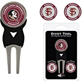Team Golf FLORIDA STATE SEMINOLES DIVOT TOOL PACK w/3 GOLF BALL MARKERS