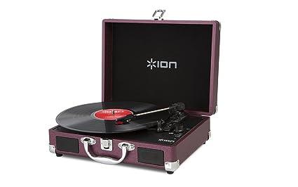 ION Audio Vinyl Motion - Giradiscos con diseño de maletín (USB ...
