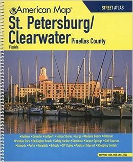 American Map St. Petersburg / Clearwater Florida Street Atlas ... on