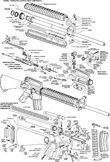 Amazon.com: M1 GARAND RIFLE DIAGRAM GLOSSY POSTER PICTURE BANNER usa on