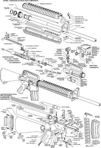 amazon com conversationprints ar 15 diagram schematic glossy poster Stock AR-15 Schematic image unavailable