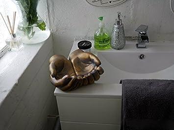 Garden Mile Vintage Effet Bronze Ouvert Mains Sculpture Présentoir  Fantaisie Salle De Bain Support Porte Savon, Boite À Bijoux Uniques Déco  Shabby ...
