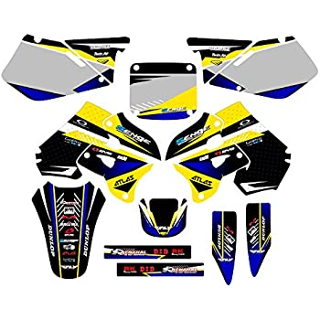 Mayhem Yellow Graphics Kit Senge Graphics kit compatible with Suzuki 1996-1998 RM 125//250