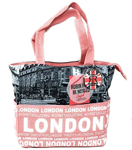 Pink Robin Photo Ladies Shopper Ruth Bus London Bag BfCdnqwX6