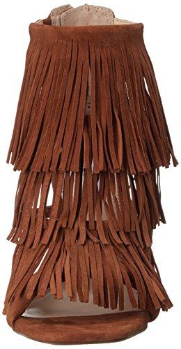 STEVE MADDEN FRINGLY - Sandalias para mujer Chestnut