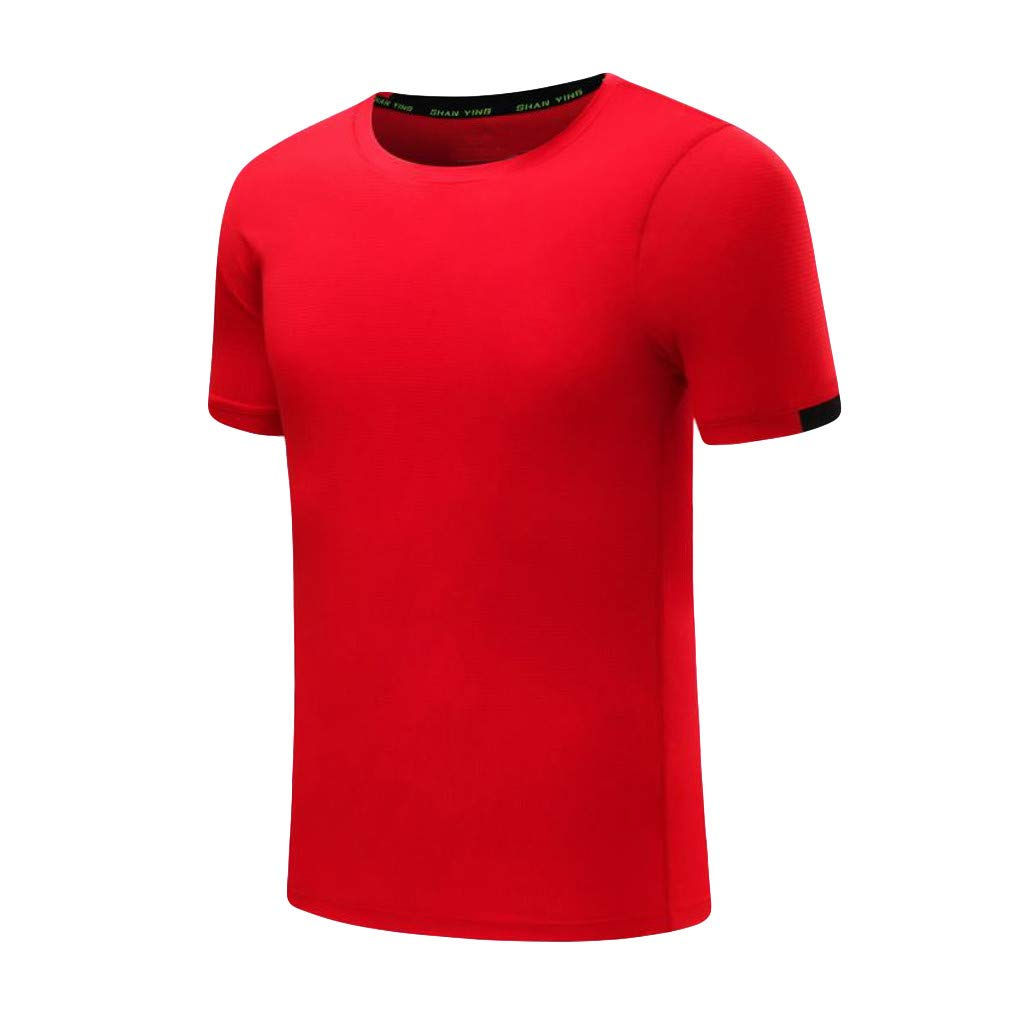 RAINED-Mens Quick Dry Sport T-Shirt Short Sleeve Athletic Training Fitness Tee Shirts Casual Slim Fit Breathable Shirt