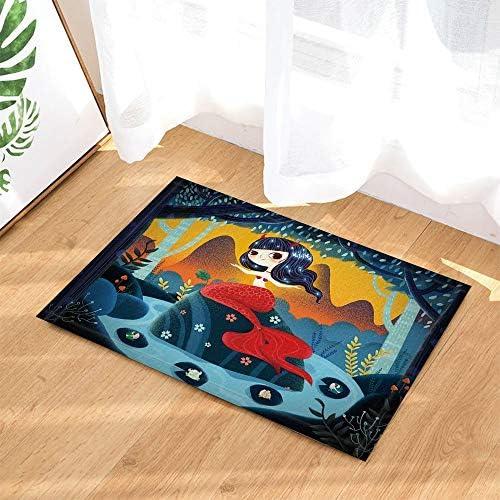 Alfombra baño dibujos animados por Gohebe Fairy Tale sirena princesa rana entrada suelo alfombrilla puerta delantera interior alfombra baño alfombra espuma memoria niños 40x60cm: Amazon.es: Hogar