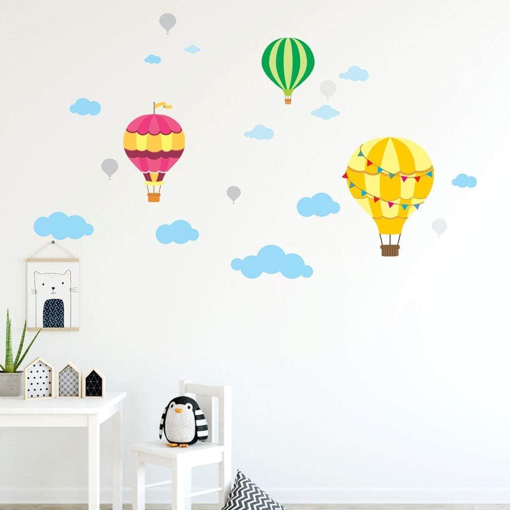 Amazon.com: Decoración de pared de globo de aire caliente ...