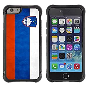 Suave TPU GEL Carcasa Funda Silicona Blando Estuche Caso de protección (para) Apple Iphone 6 PLUS 5.5 / CECELL Phone case / / National Flag Nation Country Slovenia /