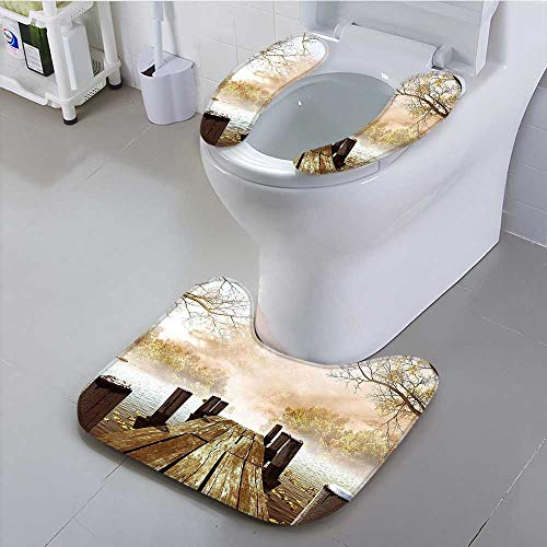 Philiphome The Toilet Condom Dock Bridge Pier Enchanted Nature Fairy Tale Mystic Design Autumn Season Printed Art in Bathroom Accessories by Philiphome