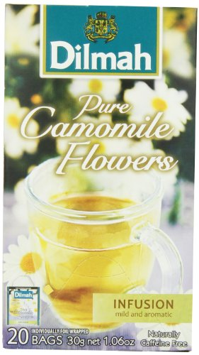 Dilmah Herbal Pure Camomile Flowers, 2.87-Ounce Boxes (Pack of - Flowers Delilah