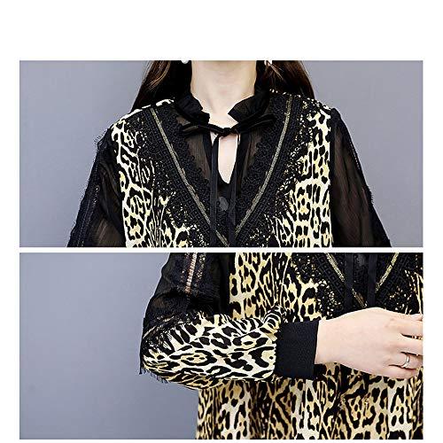 Abito Cocktail Donna Da Lunghe line Tunica Casual Swing Mini Vin Per V Flare A Giallo Leopardato C Stampato Con Dress Corto Maniche Scollo A tq5twdrx4