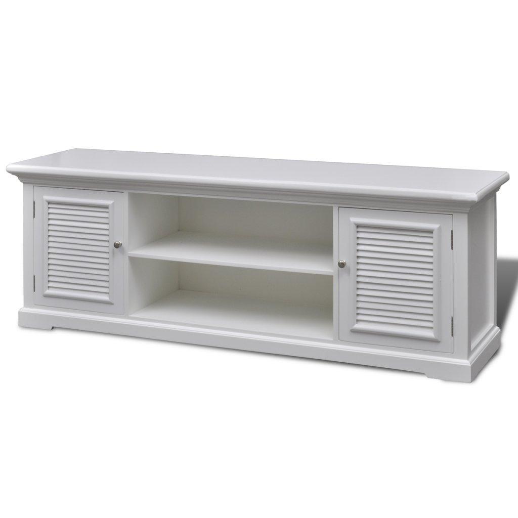 Mueble TV de madera blanco vintagehttps://amzn.to/2SQzdWC