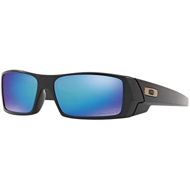 d3ed3891e1aa7 Amazon.com  Oakley Men s Gascan Polarized Rectangular Sunglasses Matte  Black 60 mm  Clothing