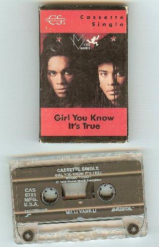 Milli Vanilli Girl You Know It's True Cassette Single Paper Sleeve