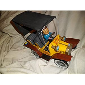 Hubley 1961 Mr. Magoo Tin Friction Battery Operated Toy Vehicle With Original Factory Box And Instructions