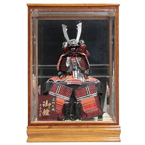 五月人形 ケース入り鎧飾り いぶし銀 幅47cm ya-37to 鏡付きケース 武蔵5号N4360 端午の節句 B076J32G2Z