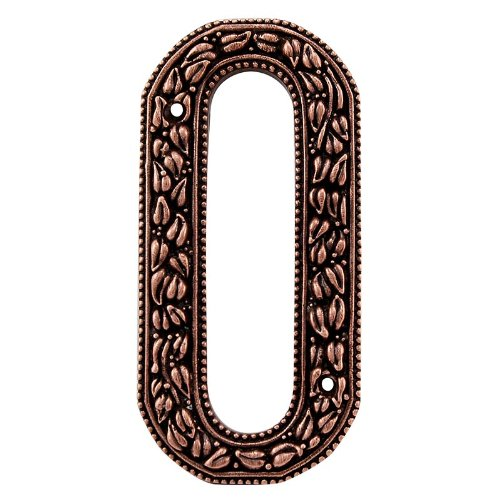 Vicenza Designs NU00 San Michele Venetian Style House Number 0 Antique Copper