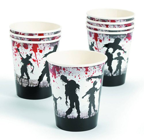 Zombie Party Paper Cups Count