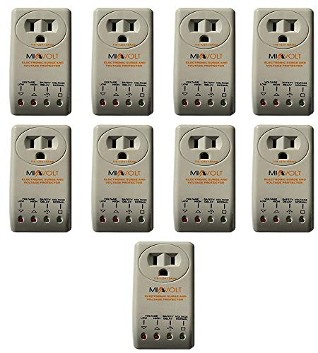9-Pack Voltage Protector Brownout Surge Refrigerator 1800 Watts Appliance