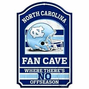 NCAA North Carolina Tar Heels 11-by-17 inch Fan Cave No Offseason Wood Sign