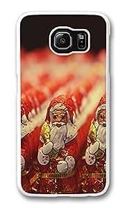 VUTTOO Rugged Samsung Galaxy S6 Edge Case, Chocolate Santa Claus Figurines Customize Hard Back Case for Samsung Galaxy S6 Edge PC Transparent
